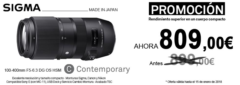 PromociónObjetivo Sigma 100-400mmContemporany