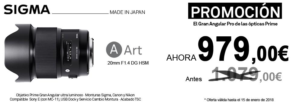 PromociónObjetivo Sigma 20mm Art f1.4