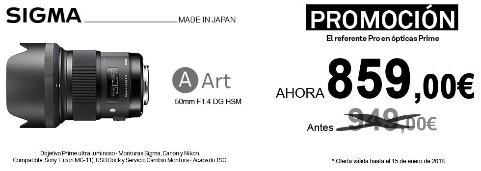 PromociónObjetivo50mm Art f1.4