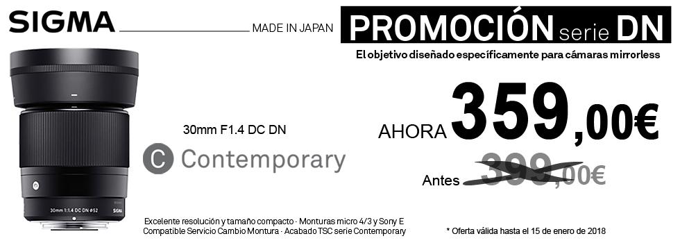 PromociónObjetivo Sigma DN Contemporary