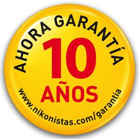 Garantía extendida de hasta 10 AñosNikon